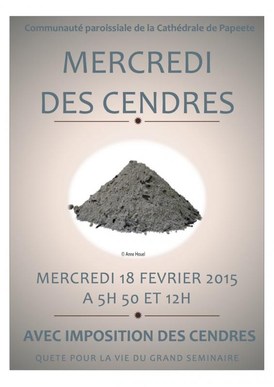 Affiche cendres 2015