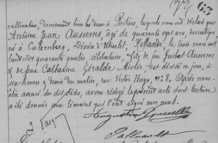 Fr AUSSEMS Rombaud - décès 2